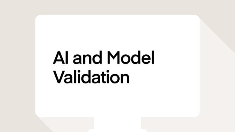 AI and Model Validation