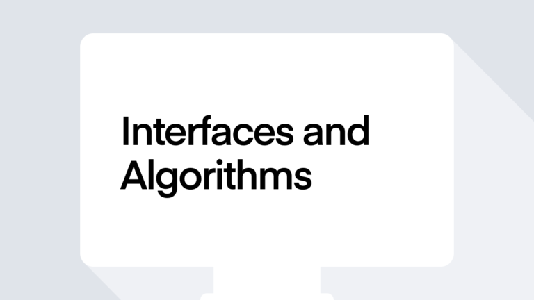 Interfaces and Algorithms