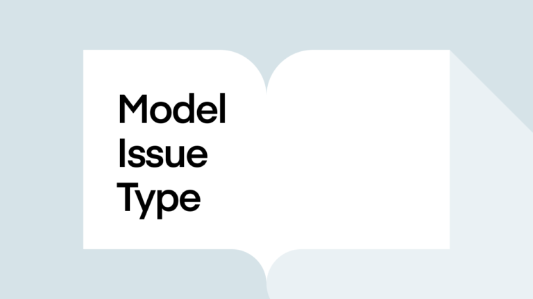 What is Model Issue Type?