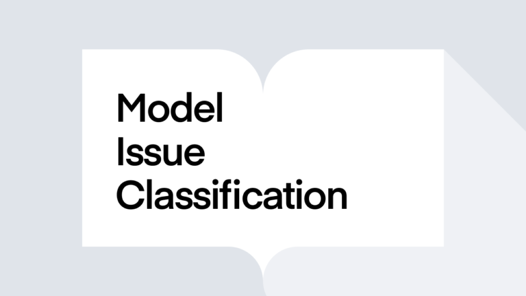What is Model Issue Classification?