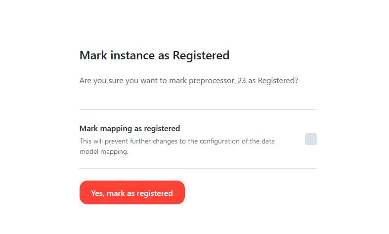 Chiron platform - mark instance as registered