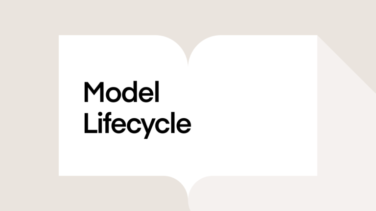 What is the model lifecycle?