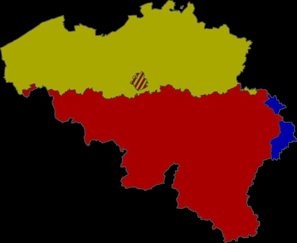 Belgium divided into languages